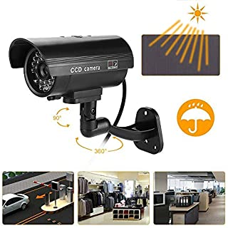 Flash LED Dummy Camera, 3-6 Months Work Anti-Theft Security Fake Monitor CCTV Surveillance Cam for Home Office