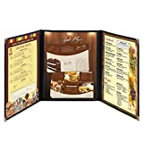 triple fold restaurant menu - Hug Flight 30 Menu Cover 8.5X11 6 View Triple Fold Double Stitch Trim Cafe Restaurant Black