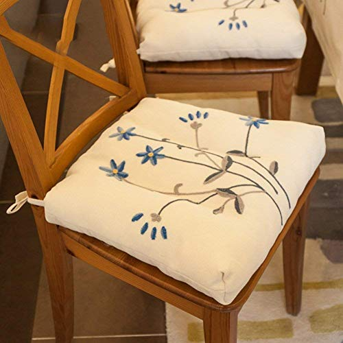 Buffer of Cloth,Thicken President Pads to Dining-Room Chair Adorned&Embroidered Comfortable [Amortization] Breathing-A 45X38X8Cm(18X15X3Cm) (Color : -, Size : -) (Embroidered Chair Pads)