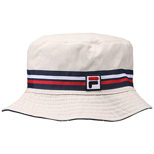 Fila Men's Heritage Basic Bucket Hat, Khaki, L/XL (Bucket Beige)