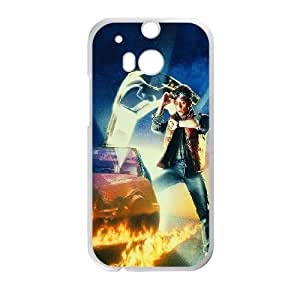 HTC One M8 Cell Phone Case White Back To The Future Time Film Poster W1W5UR