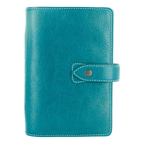 Filofax Malden Kingfisher Personal Size Leather Organizer Agenda Planner Ring Binder 2019 Calendar with DiLoro Jot Pad Refills (Personal, 2019 Kingfisher, - Personal Refills Organizers Calendar