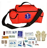 Ultimate Arms Gear Orange Compact Emergency Medical Supplies Survival Rescue Bag Pack Kit + First Aid Trauma Fully Stocked Kit Contents Come In Polybag, USA MADE