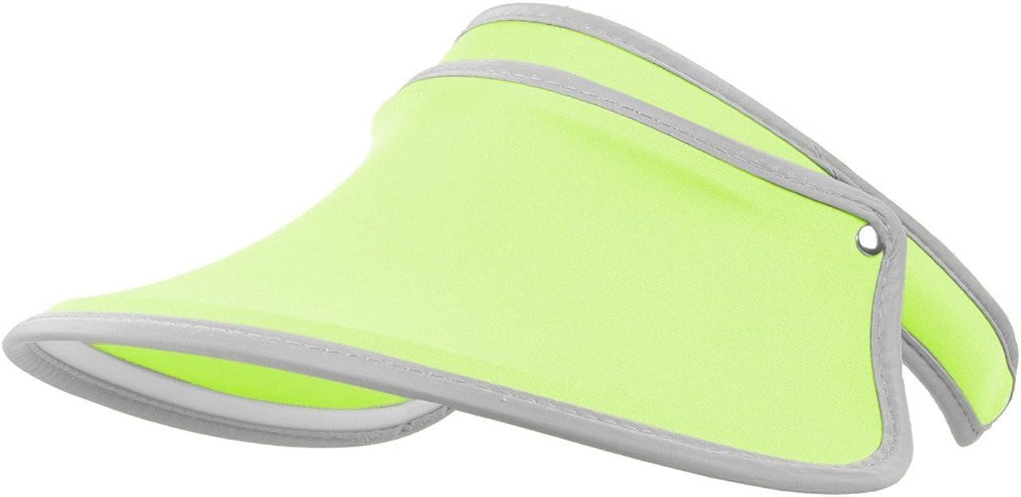 1cddb56ac04 Santwo Women Sports Sun Visor Cap Sweat-Absorbent Baseball Travel  Adjustable Hat (Fluorescent Green