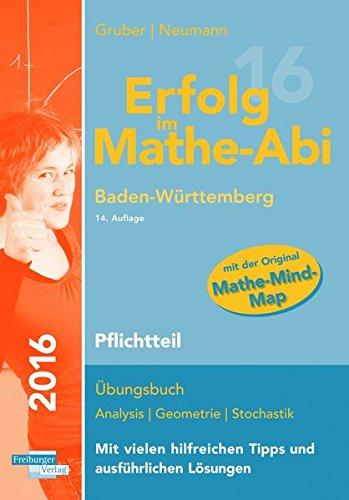 Erfolg im Mathe-Abi 2016 Pflichtteil Baden-Württemberg: mit der Original Mathe-Mind-Map