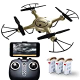Force1 RC X5UW Thunderbolt Wi-Fi FPV Drone with Camera Live Video; Force1 Remote Control Drones with Camera Include Alt. Hold, 1-Key Control + Stunt Moves & More