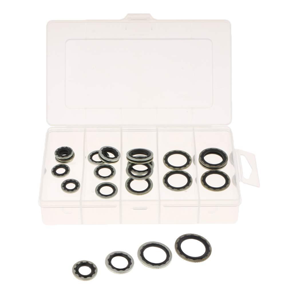 Baosity 20pcs Rubber Auto Air Conditioner Car Gasket Compressor Sealed Tools