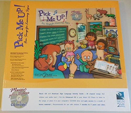 Li'L Pick Me Up! Fun Songs for Learning 200+ ASL Signs - Printed Book plus Enhanced Music CD plus Digital Download Activity Guide American Sign Language 5 Cd