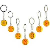 7pcs/set 2.5cm Dragon Ball Z New In Bag 7 Stars Crystal Balls Keychain Pendant 1 2 3 4 5 6 7 star Complete set by WCSeiya/Toy