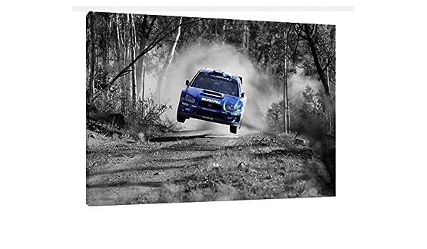 30 x 50,8 cm Subaru Impreza WRC Rally foto lienzo Impresión - Sti ...