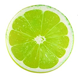 Lime Throw Pillow Fruit Plush 4