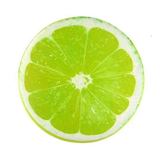 Lime Throw Pillow Fruit Plush 1