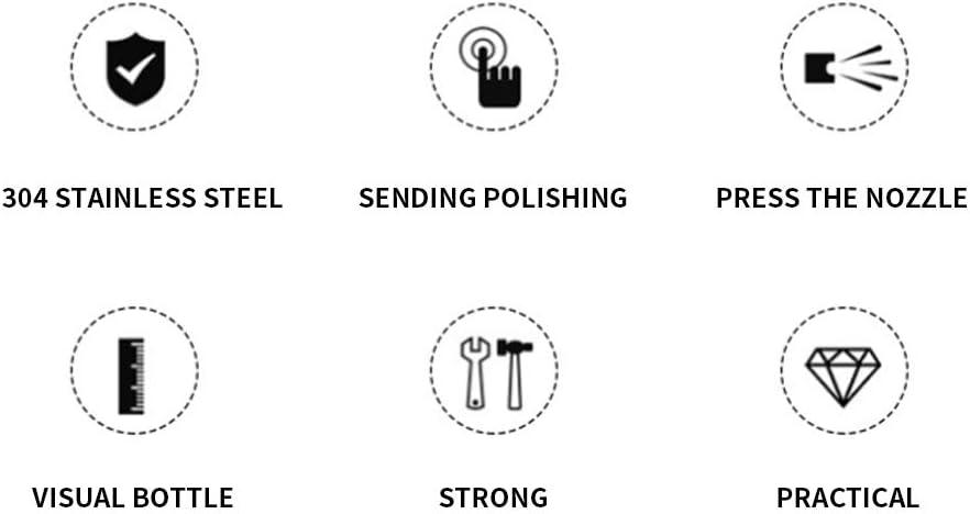 Pulverizador de aceite de acero inoxidable Shapl dispensador botella de spray rellenable aparato de cocina control de la ingesta de aceite.