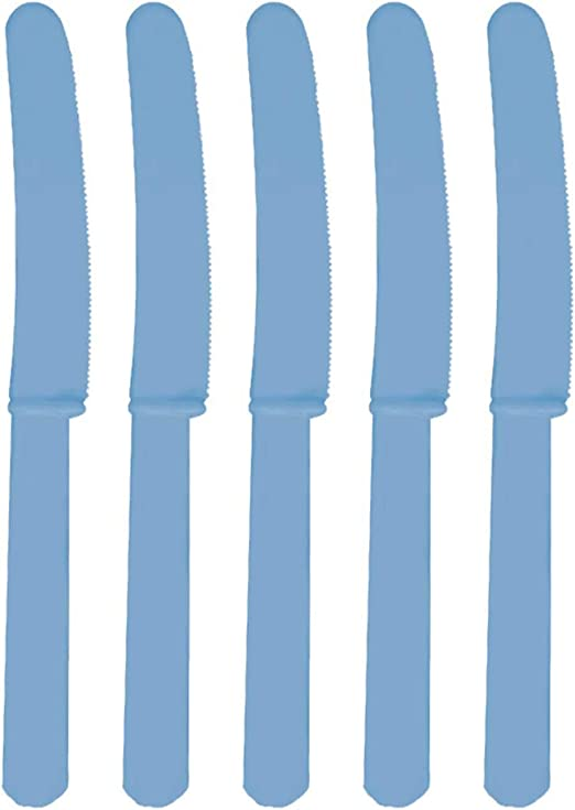 Amscan CARIBBEAN BLUE Reusable Plastic CUTLERIES Birthday//Party//Tableware
