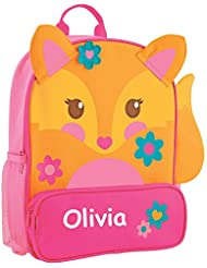 Stephen Joseph Personalized Little Girls Sidekick Fox Backpack With Name