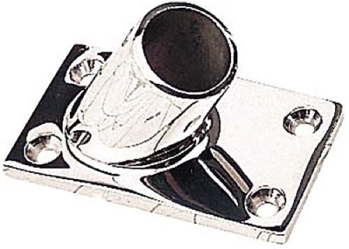 Rectangular Rail Bases Stainless Fastener 1/4 in. FH by Sea Dog Line (1/4 Inch Fh Fasteners)