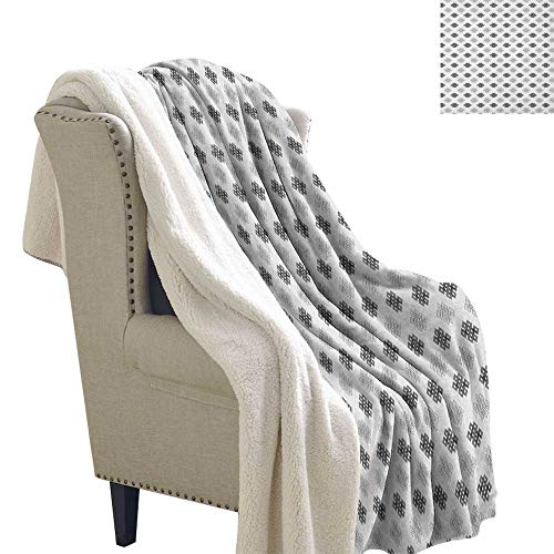 Suchashome Tattoo Bed Cover Intricate Geometrical Motifs Knots in Greyscale Pattern Esoteric Zen Charm Symbols Blanket Small Quilt 60x78 Inch Grey White]()