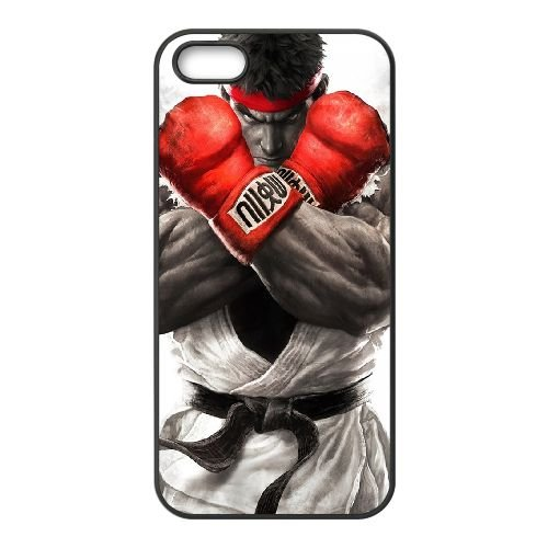 Street Fighter V 17 coque iPhone 4 4s cellulaire cas coque de téléphone cas téléphone cellulaire noir couvercle EEECBCAAN02901