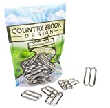 Country Brook Design 50 1 1/2 Inch Metal Round Wide Mouth Triglide Slides