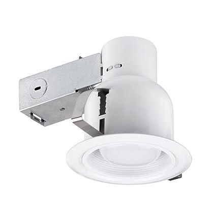 amazon com 4 damp rated dimmable downlight indoor outdoor ridged