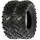Set of 2 Sun.F A024 ATV UTV All Terrain Mud Trial Front Tires (23x8x11)