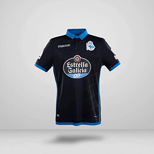 RC Deportivo Camiseta 3ª Equipación 2017/18, Unisex Adulto, Negro ...