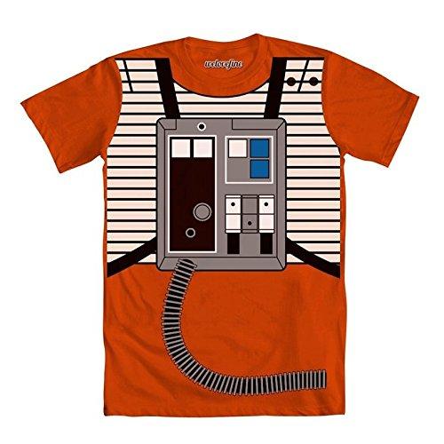 [Star Wars I Am Luke Skywalker Flight Suit Mighty Fine Adult T-Shirt Tee XXL] (Girl Boba Fett Costumes)