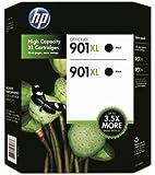 HP 901XL Black Ink Cartridge - Twin Pack