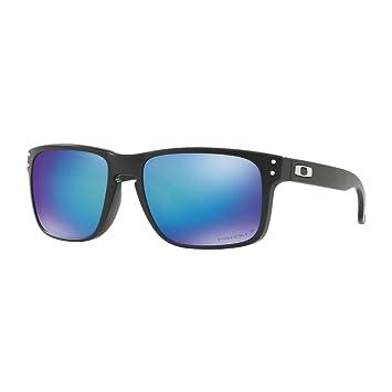 Oakley Herren Sonnenbrille Holbrook 9102F0, Schwarz (Matte Black/Prizmsapphirepolarized), 55