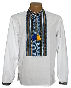Bordado camisa con Ethnic ucraniano adornos. Folk vyshyvanka con tejidos  bordado  quot Ucrania patritic 8c08931e74bb2