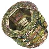 """E-Z Lok Threaded Insert, Zinc, Hex-Flanged, 3/8""""-16 Internal Threads, 13mm Length (Pack of 25)"""