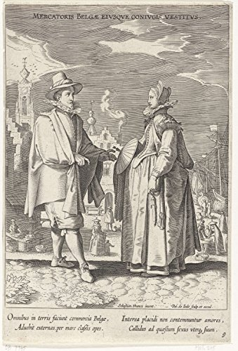 1605 Costume (Classic Art Poster - Variarum Gentium Ornatus (Costumes of Different Nations), Pieter de Jode (I), 1605-1610 13