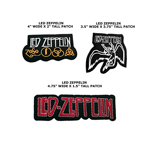 Application Music Rock Band Logo Theme Assorted 3 Piece DIY Embroidered Iron/Sew-on Applique Motif Patches By Superheroes (Three Muses Costumes)