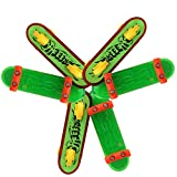 Coxeer 6 PCS Finger Skateboard Finger Board Toy Plastic Mini Finger Toy Children(Random Pattern)
