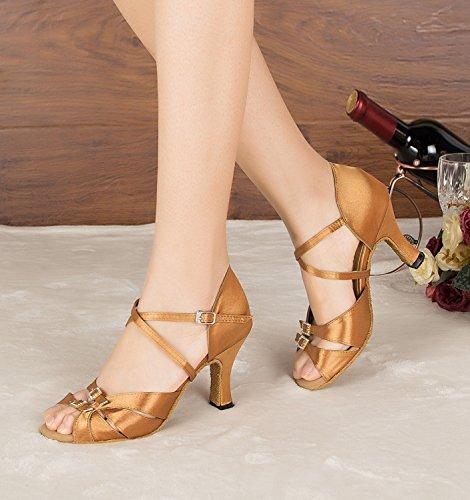 Bronze Senhoras 35 Dançando Sapatos Marrons Tamanho Minitoo wqpHdXzd