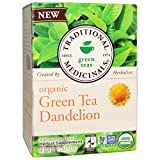 Traditional Medicinals, Organic Green Tea Dandelion, Caffeine Free, 16 Wrapped Tea Bags, 1.13 oz (32 g) - 2PC