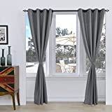 """Cheap Subrtex Room Thermal Insulated Window Treatment Grommet Blackout Window Curtains/Drapes(52""""x95"""",2 Panels,Gray)"""