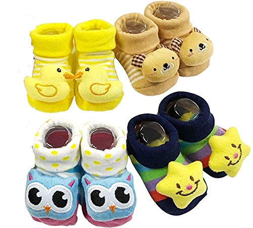 BabyGo Boys' Assorted Modern Shoes -Small (Set of 4 Pairs)