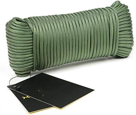 9コア傘ロープ屋外ロープクライミングロープ補助ロープレスキューロストロープ機器安全コードサバイバル索具164フィート50メートル,b,31m