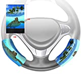 Custom Underwater Sea Turtle Steering Wheel Cover Hook and Loop Covers For Car Size 10x16cm 2 Piece