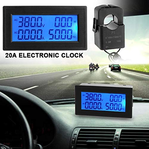 Sala-Store - 100A/100mA CT Micro Current Transformer+ 6 in 1 Multifunctional AC Meter Car Styling Digital LED Screen Automotive Clock Display