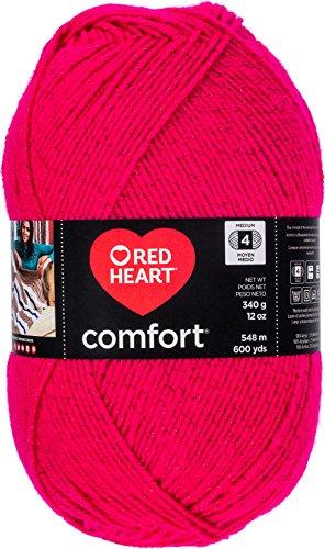Red Heart Comfort Yarn-Cerise Shimmer (Cerise Heart)
