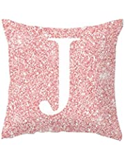 Topsale-ycld Pillowcase,1PC Alphabet Print Pillow Case Throw Pillow Cushion Cover Soft Cushion Cover Pink Pillow Protectors for Sofa Bedding Car and Home Decor (45x45cm / 17.72x17.72inch)