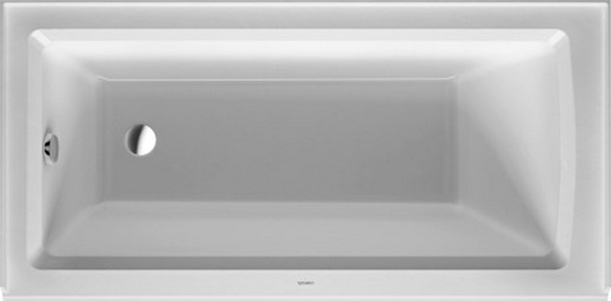Duravit 700356000000090 Bathtub Architec with Integrated Panel and ...