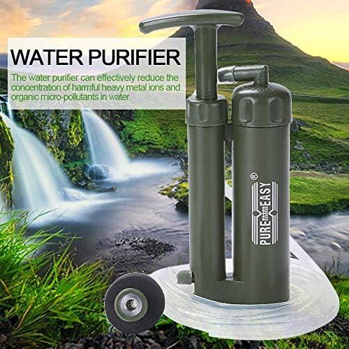 Mississ Tragbarer Wasserfilter, ABS-Kunststoff-Wasseraufbereiter, Überlebenswerkzeug für Camping-Bergsteiger, Filterinsekten und Staub im Wasser