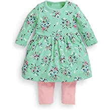 FERENYI Baby Girls Clothes Suit Cartoon Girl Long-sleeved Dress With Pants Sets