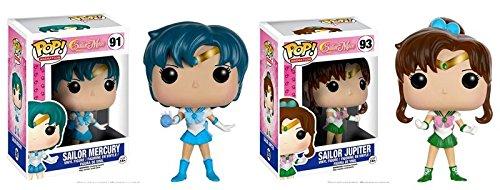 Funko POP Animation Anime: Sailor Mercury and Sailor Jupiter Toy Action Figure - 2 Piece BUNDLE