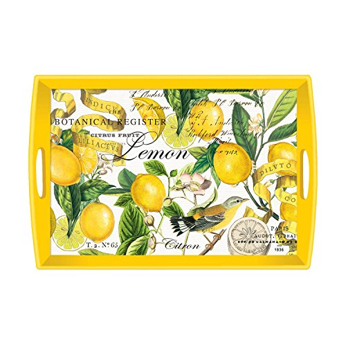 Michel Design Works Lemon Wooden Tray by Michel Design Works