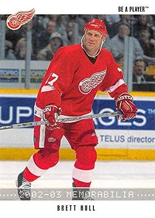 new style 093d7 1b022 Amazon.com: 2002-03 Be A Player Memorabilia Hockey #41 Brett ...