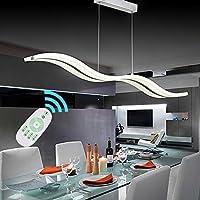 Moderno LED luces para acrílico salón techo de araña colgante inoxidable lámparas Lustre Lamparas de Techo Bar Home restaurante comedor Iluminación Apoyo Dimming con mando a distancia